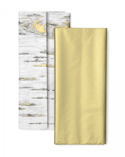 Birchwood & Gold Tissue Paper