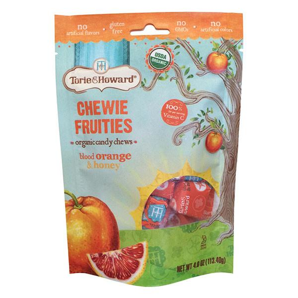 Torie & Howard Organic Fruit Chew Candy - Blood Orange & Honey