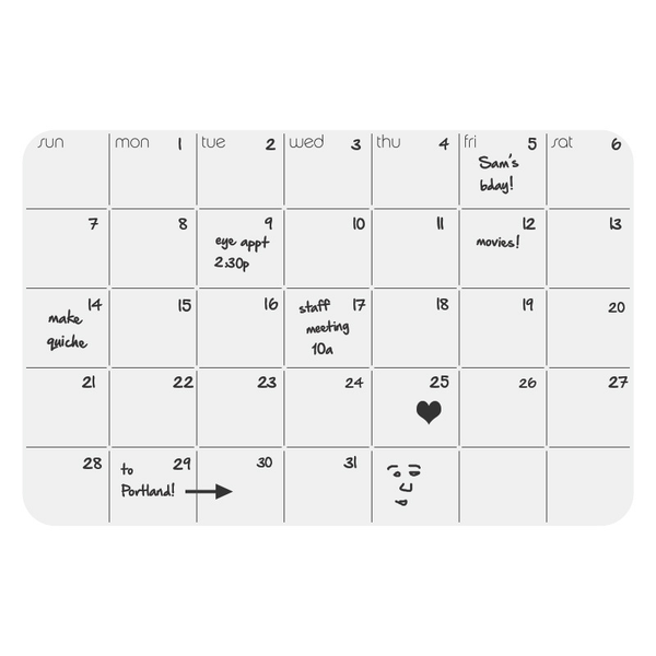 up date! Monthly Planner - White
