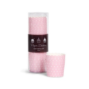 Baking Cups - Pink White Spots