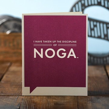 Frank & Funny: I have taken up the discipline of Noga.