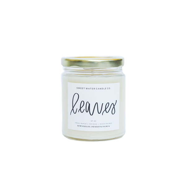 9oz Soy Candle - Leaves
