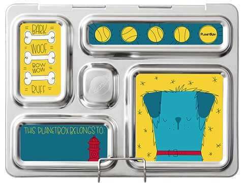 Rover Lunchbox Magnets - Dogs