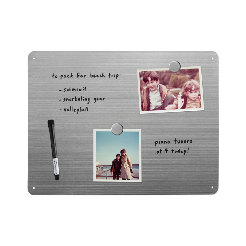 "16 x 12"" Dry-Erase Board - Stainless"
