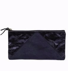olivia paper clutch large blue