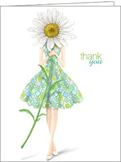 Boxed Cards - Thank You, Girl & Daisy