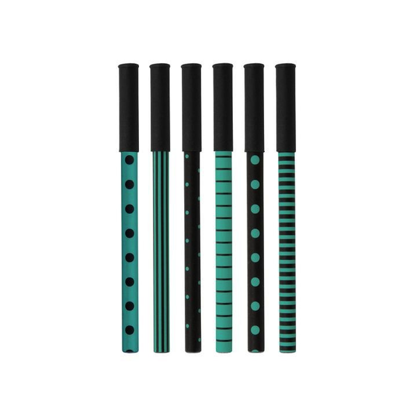 Party Pen Set - Black/Aqua