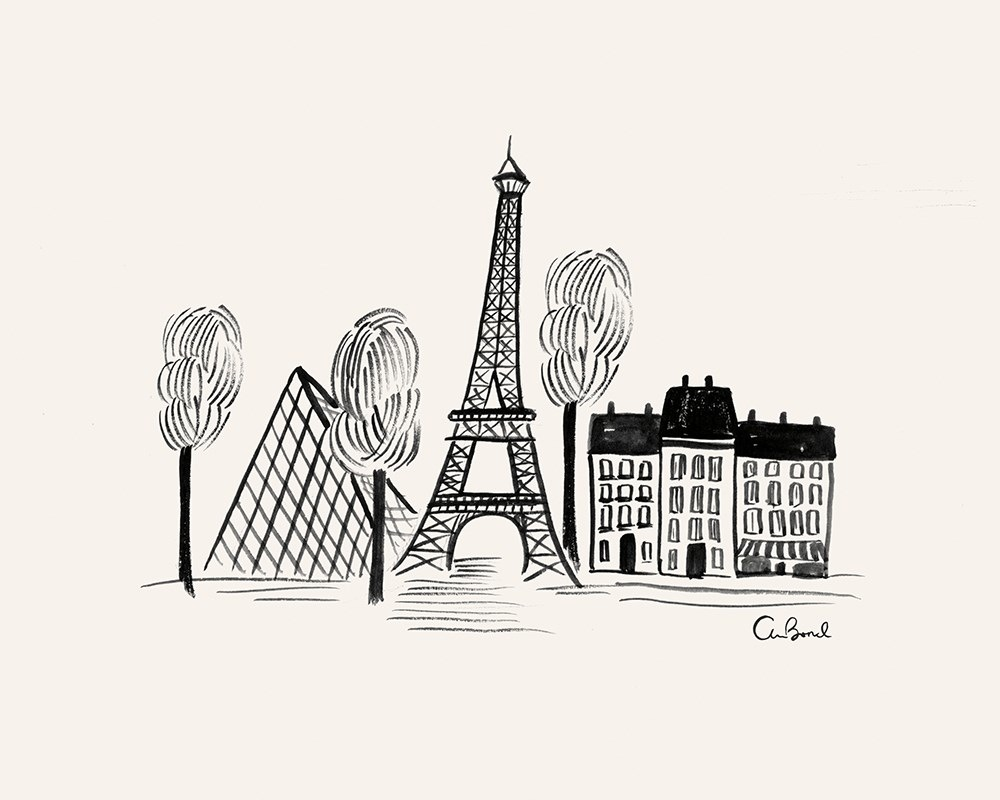 Paris Sketch Print (8x10)