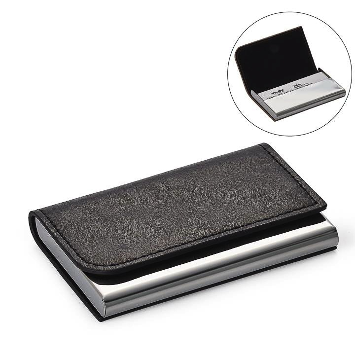 Executive Curve Business Card Holder - Black