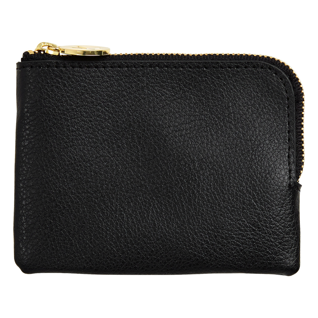 kikki k - LEATHER COIN PURSE: BLACK