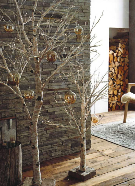 Lighted Birch Tree - Small