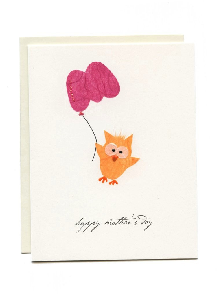 "Owl with M Balloon - ""Happy Mother's Day"""