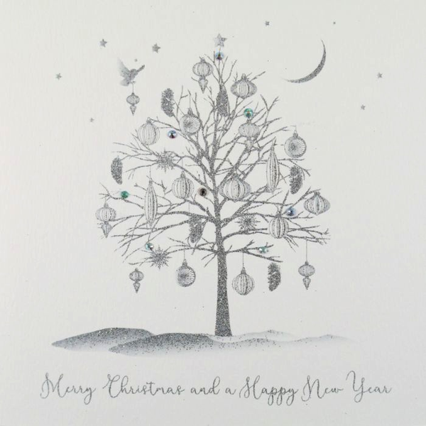 ICED SILVER - Merry Xmas & A Happy New Year
