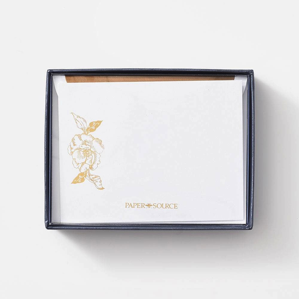 Gold Floral Luxe Stationery Set
