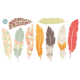 Fabric Decals - Floating Feathers