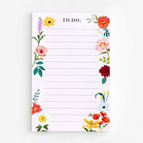 "Floral ""To Do"" List Pad"