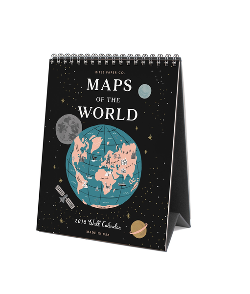 Rifle - 2019 Maps of the World Desk Calendar
