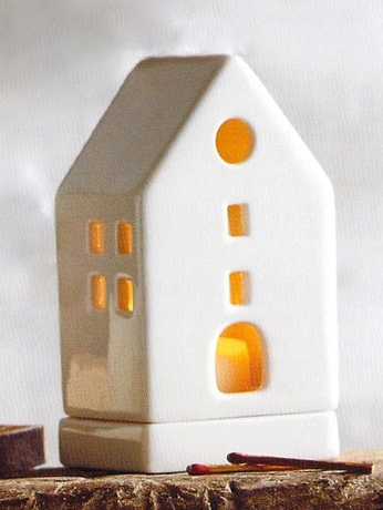Porcelain Tealight Houses