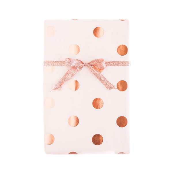 Blush with Rose Gold Gift Wrap Sheets - x3 20x27 sheets