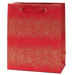 Champagne Bubbles on Red Medium Bag