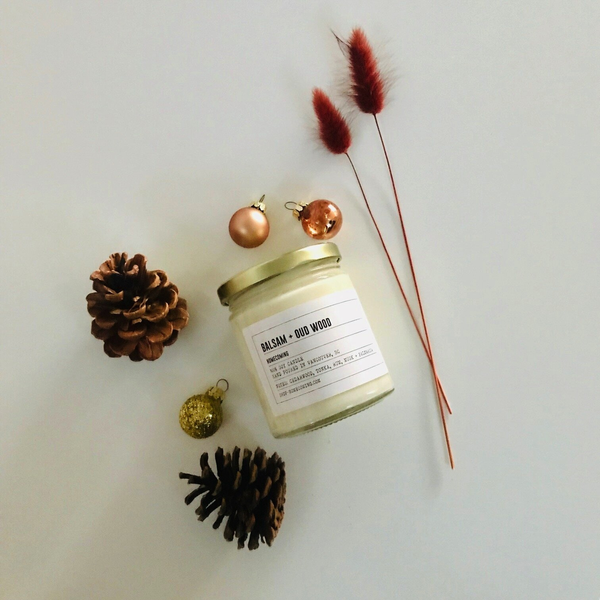 Balsam + Oud Wood Soy Wax Candle