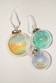 Iridescent Glass Orb Ornament - Small