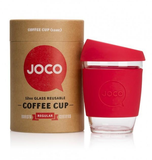 JOCO - Reusable Glass Cup - Red 12oz