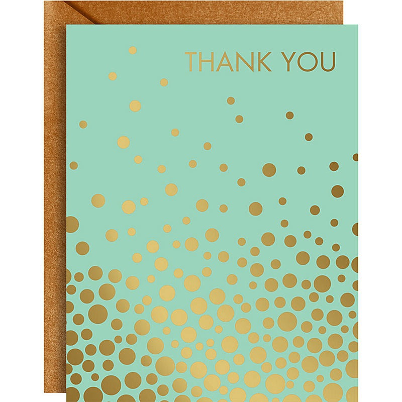 Boxed Cards - Gold Confetti/Mint