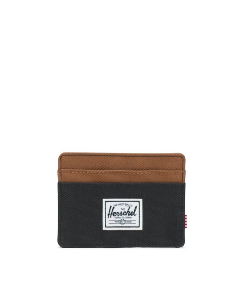 Charlie Wallet - Black/Saddle Brown