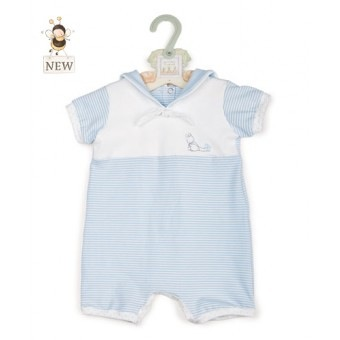 Bud Sailor Romper - blue - 6-12 mo