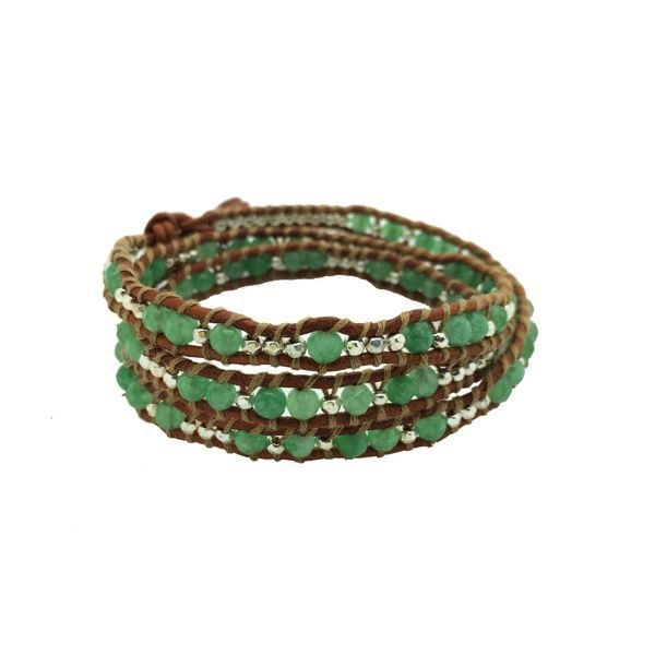 3 Wrap Bracelet - 'FOLLOW YOUR DREAMS' - JADE/SILVER