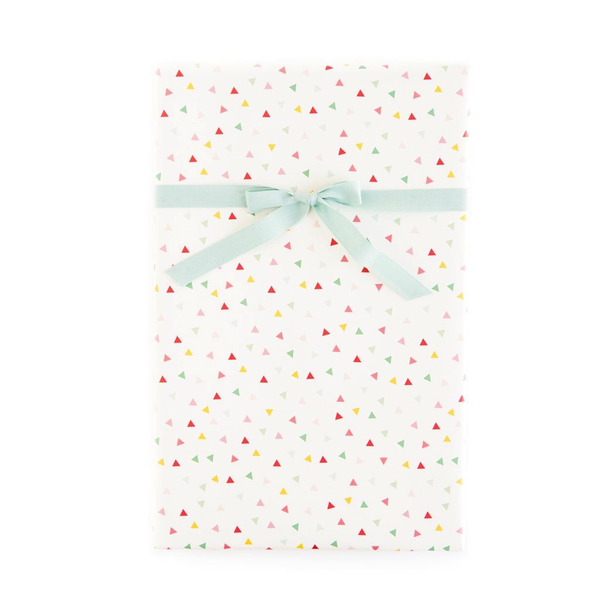 Hooray Confetti/Mini Pin Stripe Gift Wrap Sheets - x3 20x27 sheets