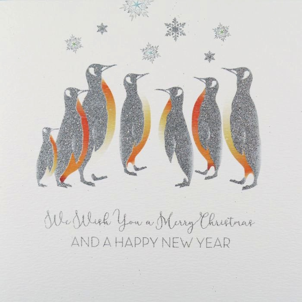 ICED SILVER - We Wish You A Merry Christmas - Boxed Cards