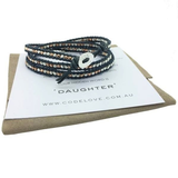 'DAUGHTER' 3 Wrap Bracelet