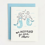 Mermaid For Each Other - Valentine's Card