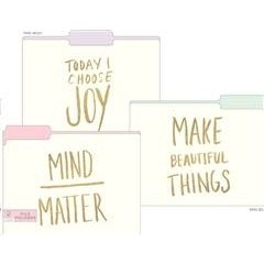 File Folders Assorted Pastel