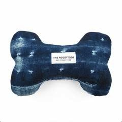 Indigo Mud Cloth Squeaky Toy