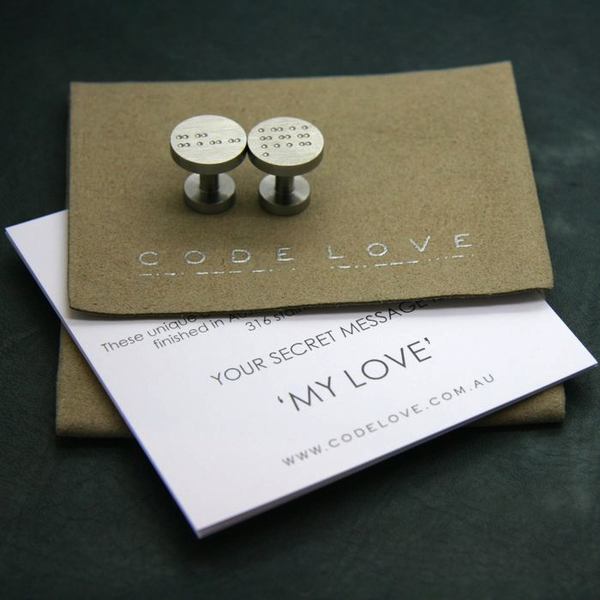 'MY LOVE' Cuff Links