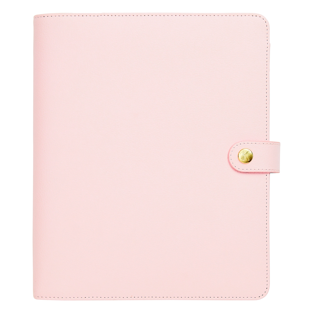 kikki k - LEATHER Personal Planner Large - pink