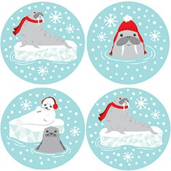 "Arctic Critters 1.25"" Stickers"