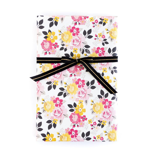 Floral/Black Chevron Wrap Sheets - x3 20x27 sheets