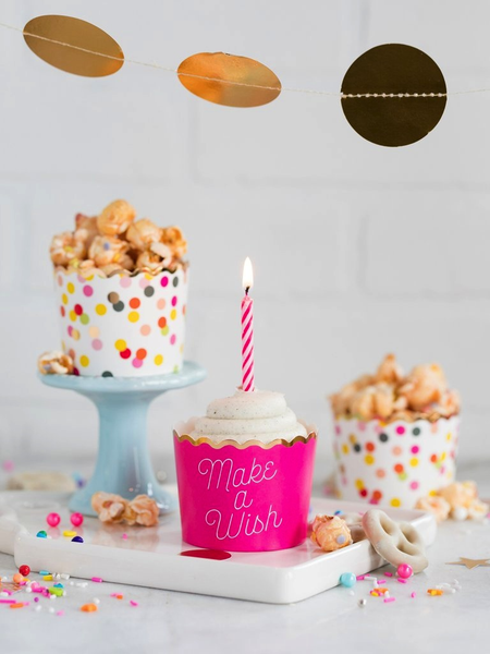 Make A Wish Foiled Baking Cups