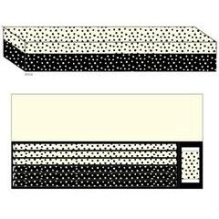 Black/White Dot Pencil/Eraser Set
