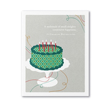 """A Multitude Of Small Delights Constitutes Happiness."" - Charles Baudelaire. Happy birthday card."