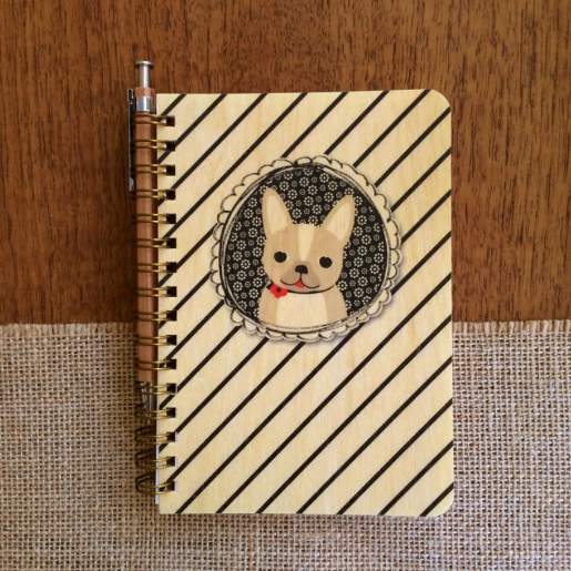 Wooden Journal - Dapper Dog