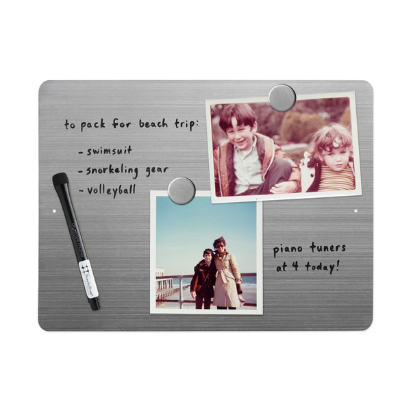 "12"" x 9"" Dry-Erase Board - Stainless"