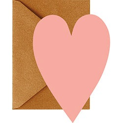 Coral Hearts With Gold Envelopes