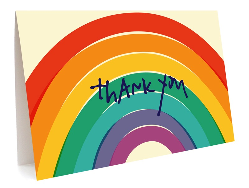 Big Rainbow  (Thank You)  - Boxed Cards