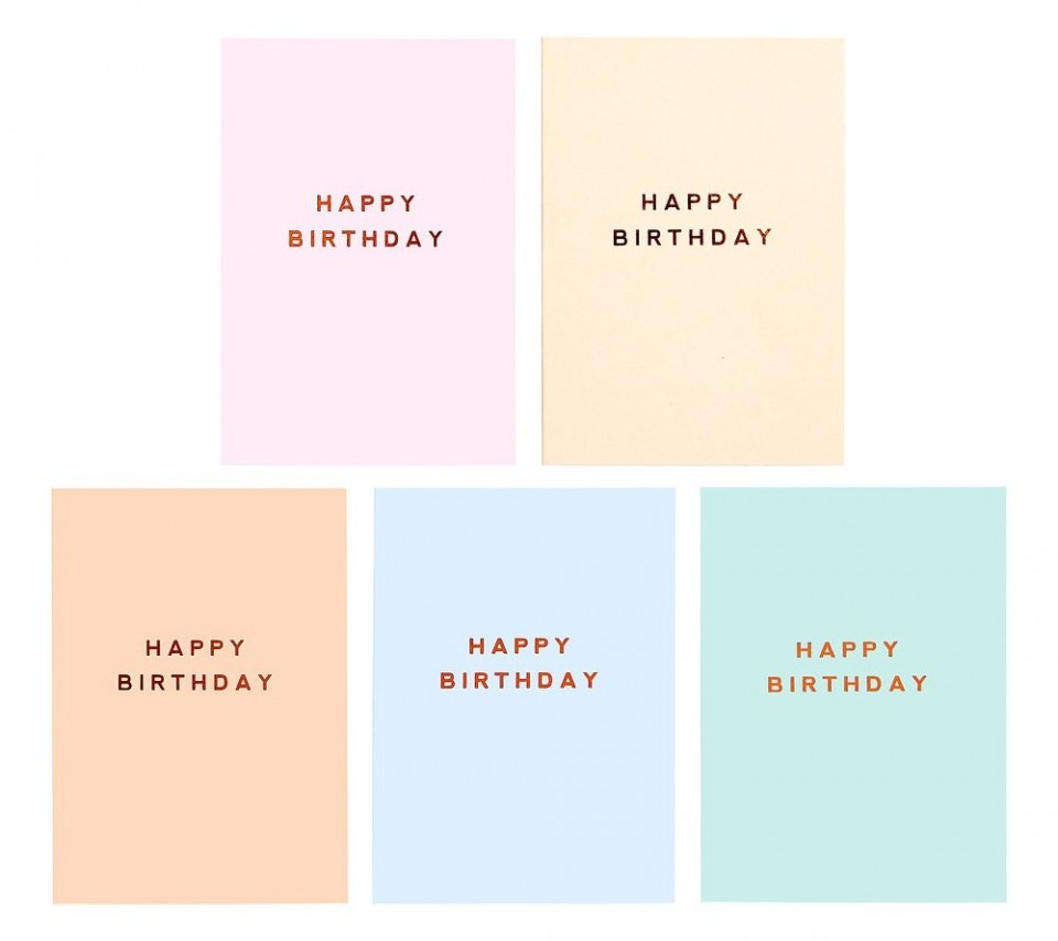 A6 Birthday Cards 10Pk: Energize