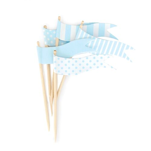 Topper - Powder Blue Flags